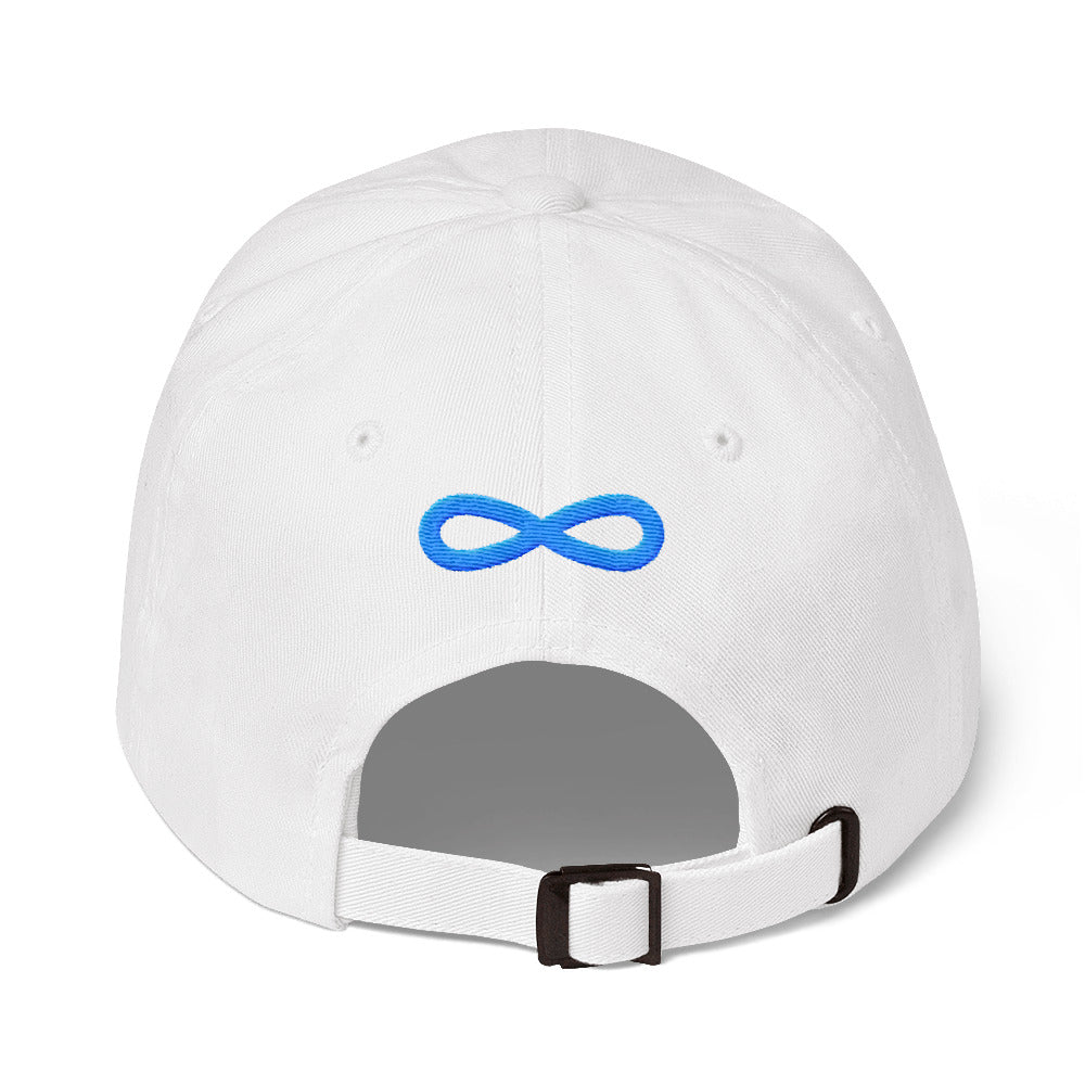 FLIPSIDE Dad Hat White-Aqua Back