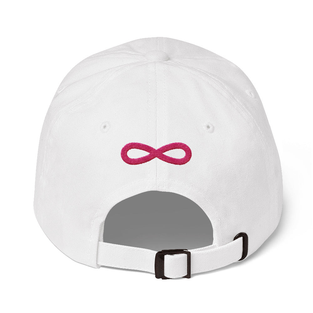 FLIPSIDE Dad Hat White-Flamingo Back
