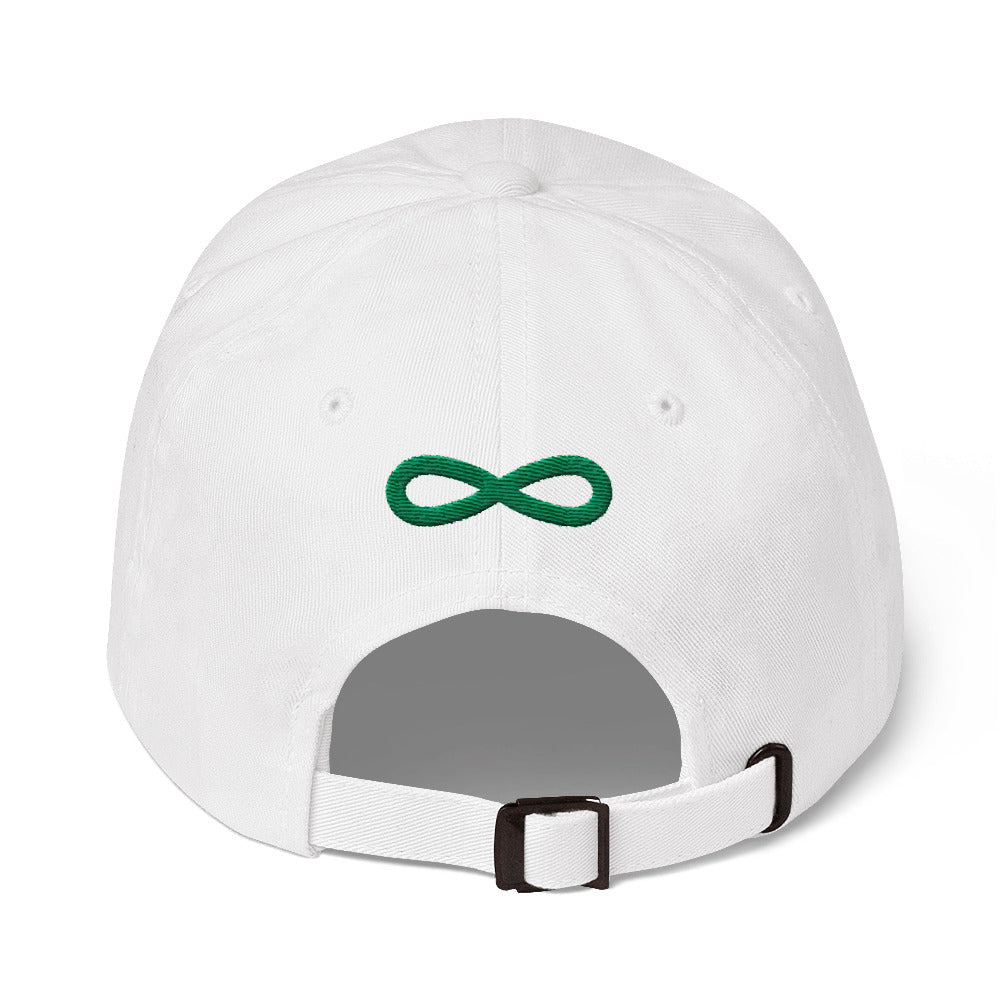 FLIPSIDE Dad Hat White-Kelly Green Back