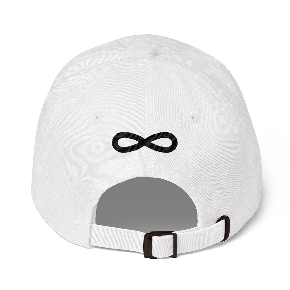 FLIPSIDE Dad Hat White-Black Back