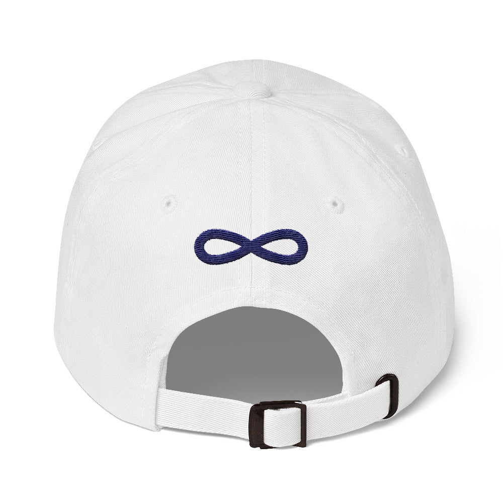 FLIPSIDE Dad Hat White-Navy Back