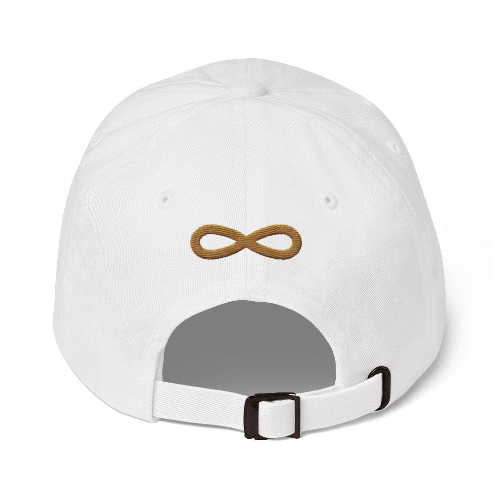 FLIPSIDE Dad Hat White-Old Gold Back