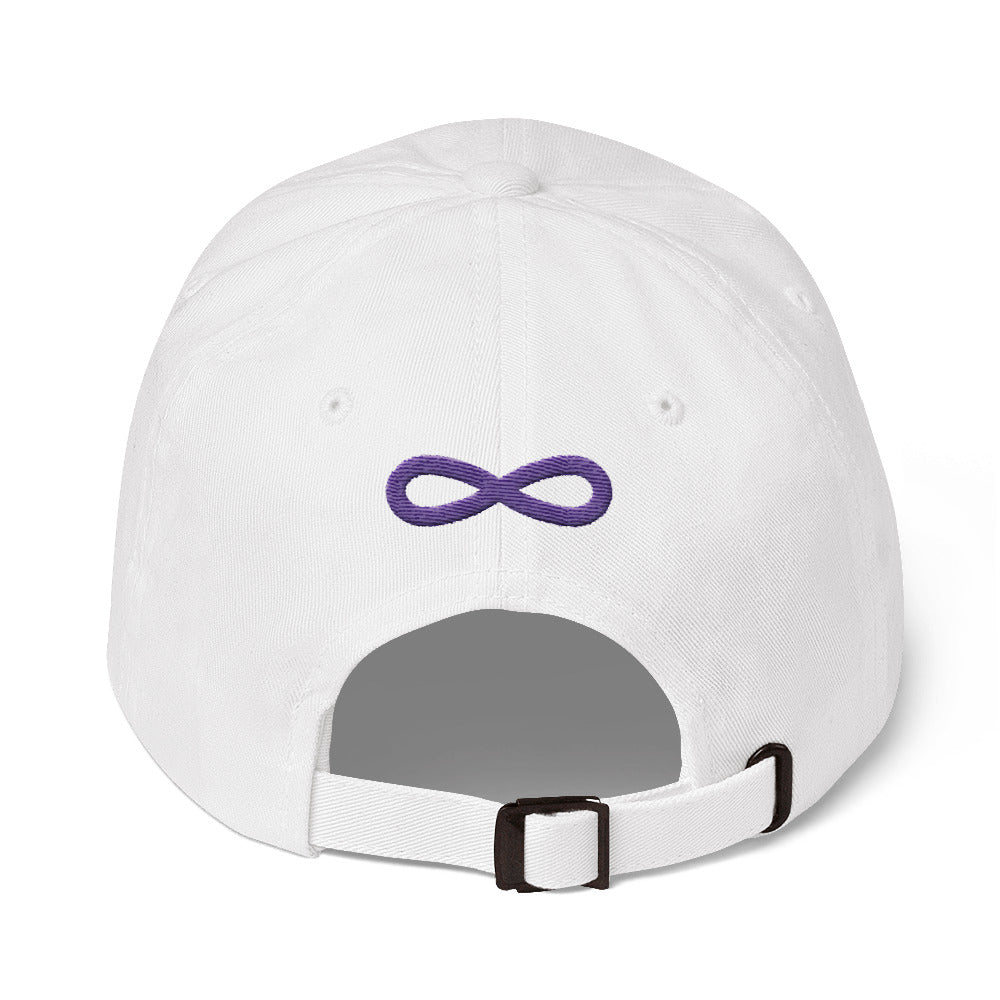 FLIPSIDE Dad Hat White-Purple Back