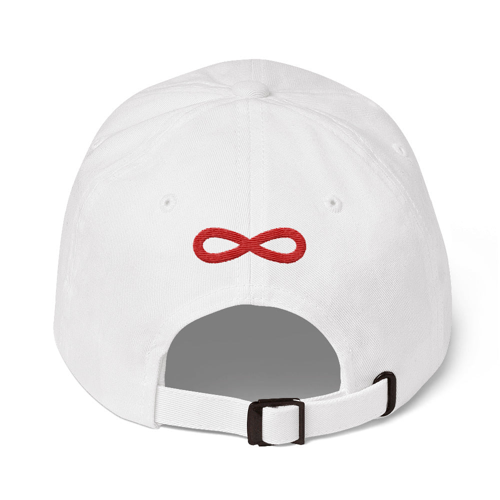 FLIPSIDE Dad Hat White-Red Back
