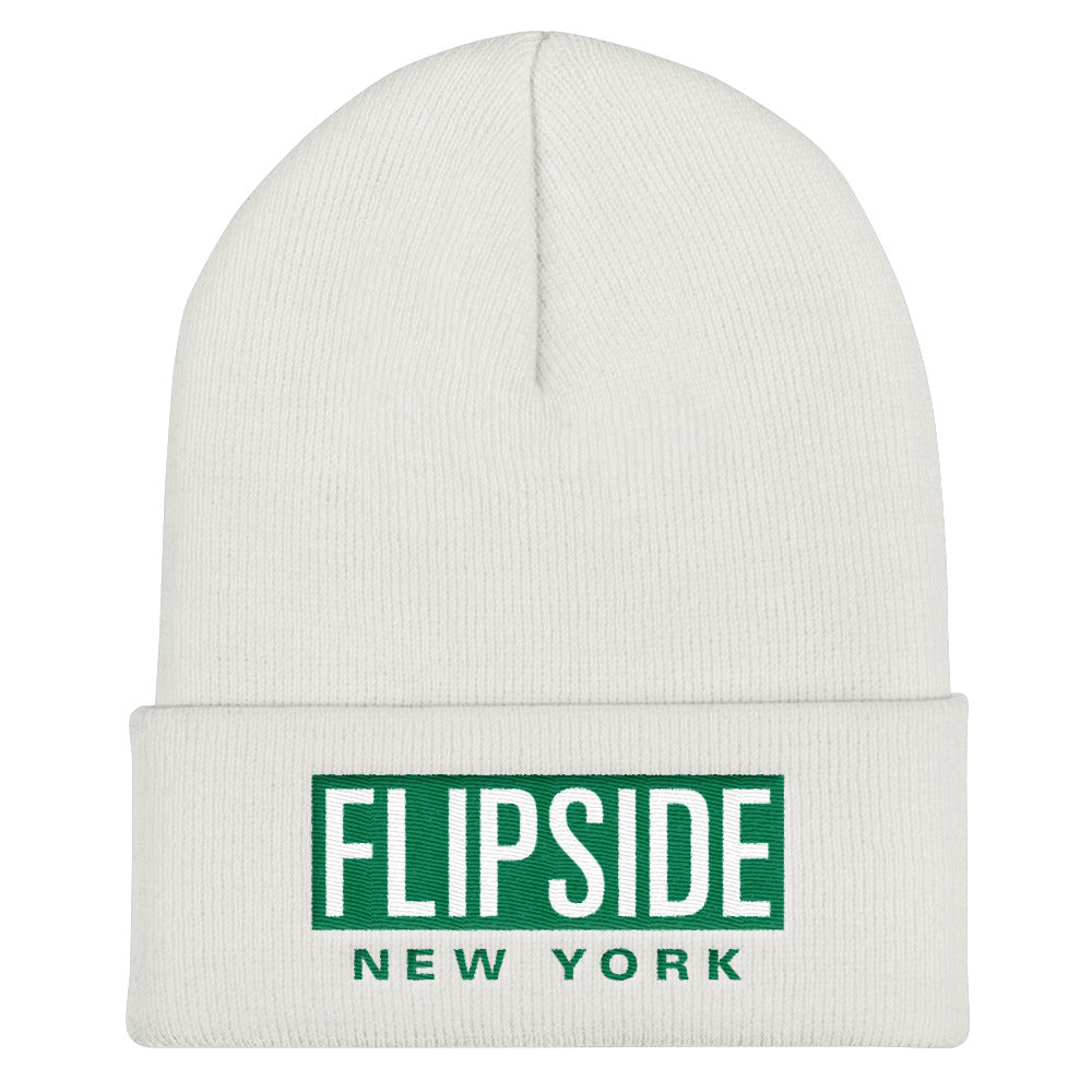 FLIPSIDE Beanie White - Kelly Green