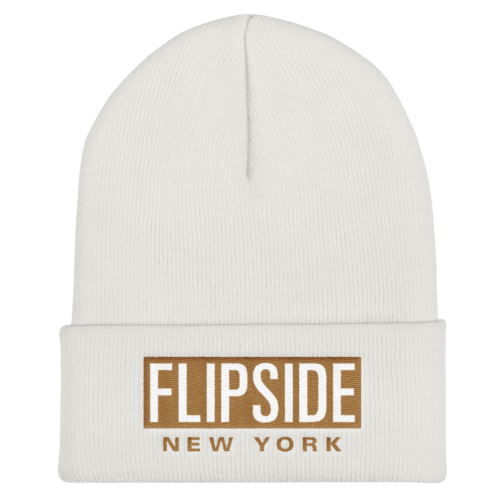 FLIPSIDE Beanie White - Old Gold