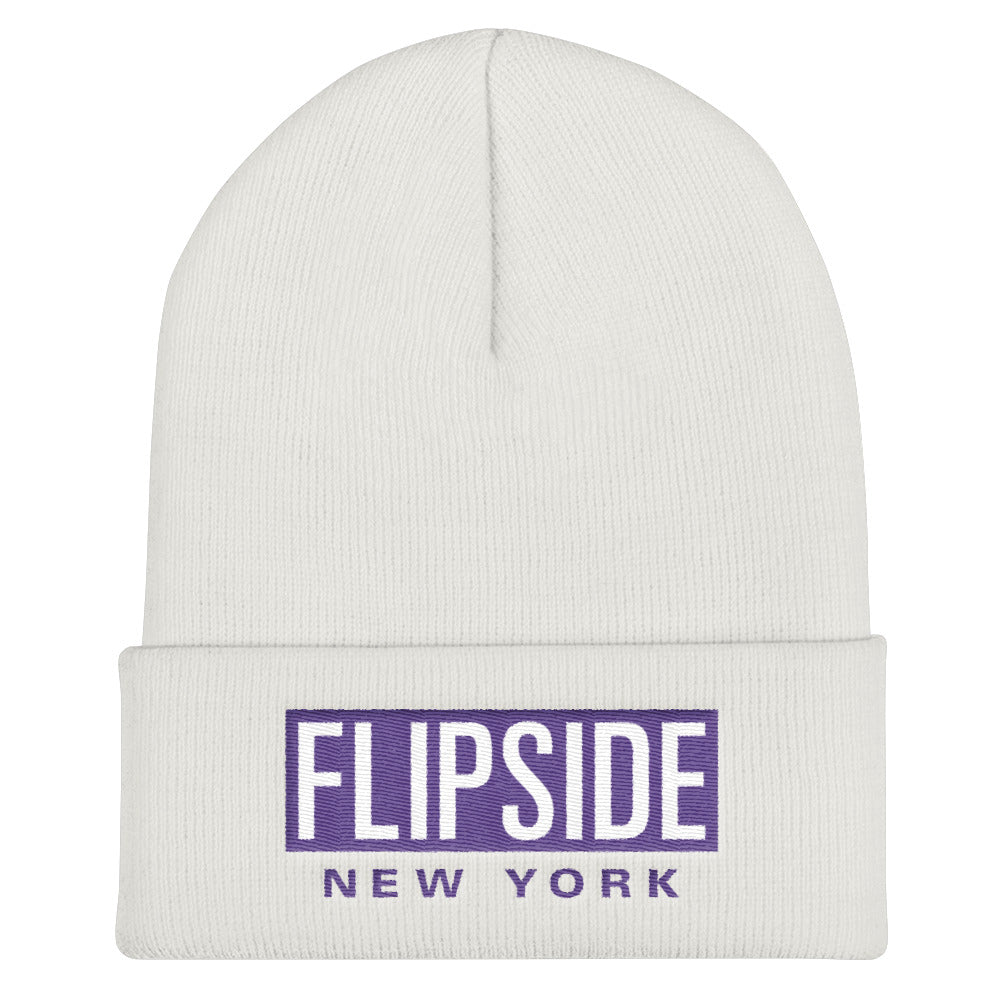 FLIPSIDE Beanie White - Purple