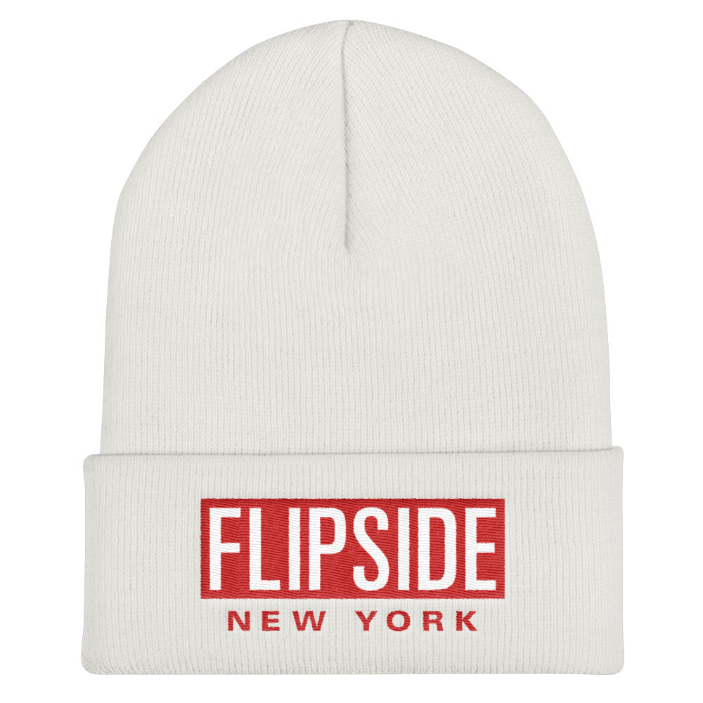 FLIPSIDE Beanie White - Red