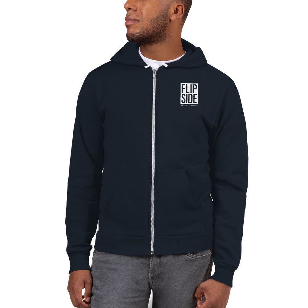 FLIPSIDE Limitless Zip-Up Hoodie Navy Front
