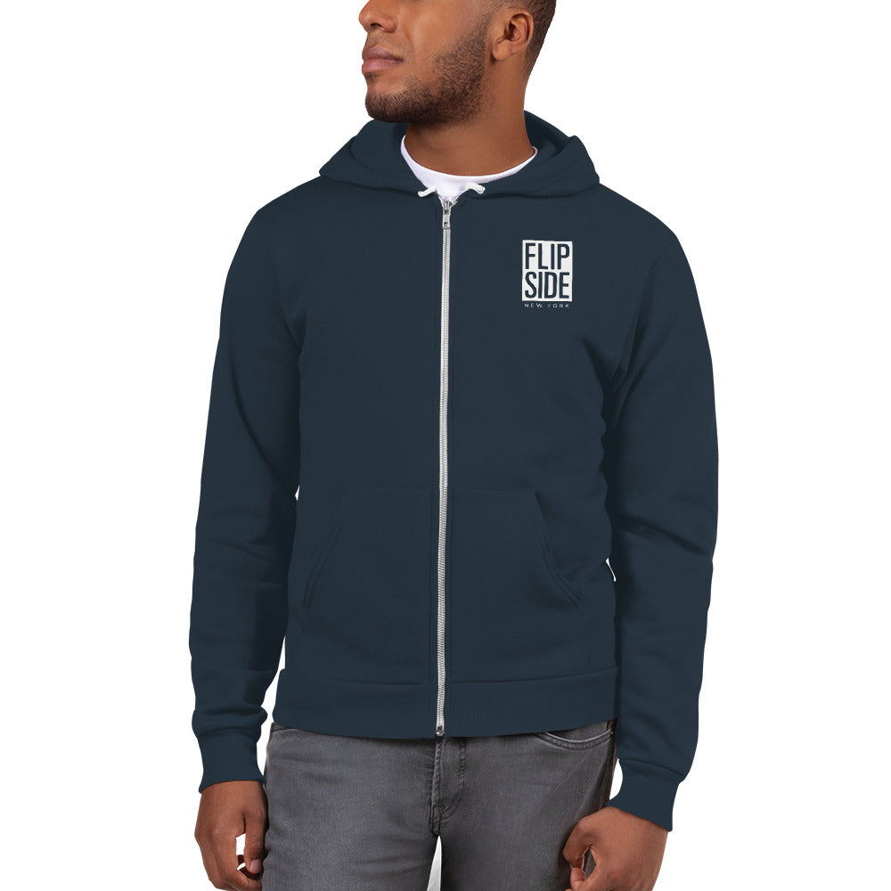 FLIPSIDE Limitless Zip-Up Hoodie Sea Blue Back