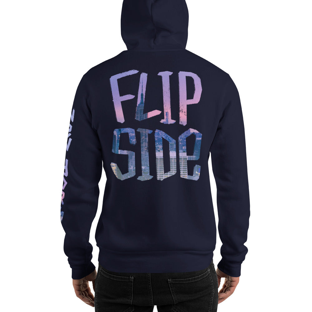 Infinity Cityscape 02 Hoodie Navy Back