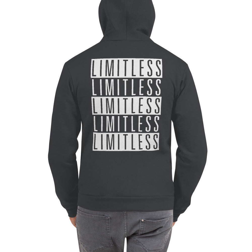 FLIPSIDE Limitless Zip-Up Hoodie Asphalt Back