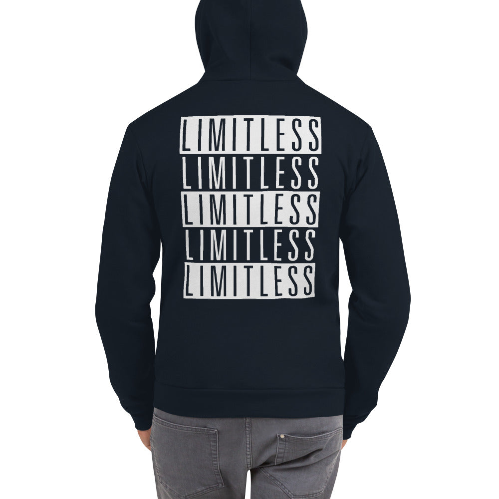 FLIPSIDE Limitless Zip-Up Hoodie Navy Back