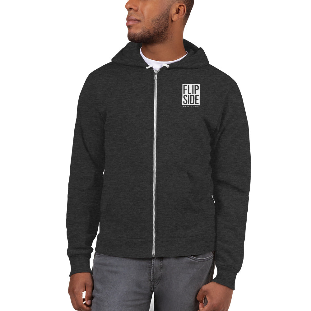 FLIPSIDE Limitless Zip-Up Hoodie Dark Heather Grey Front