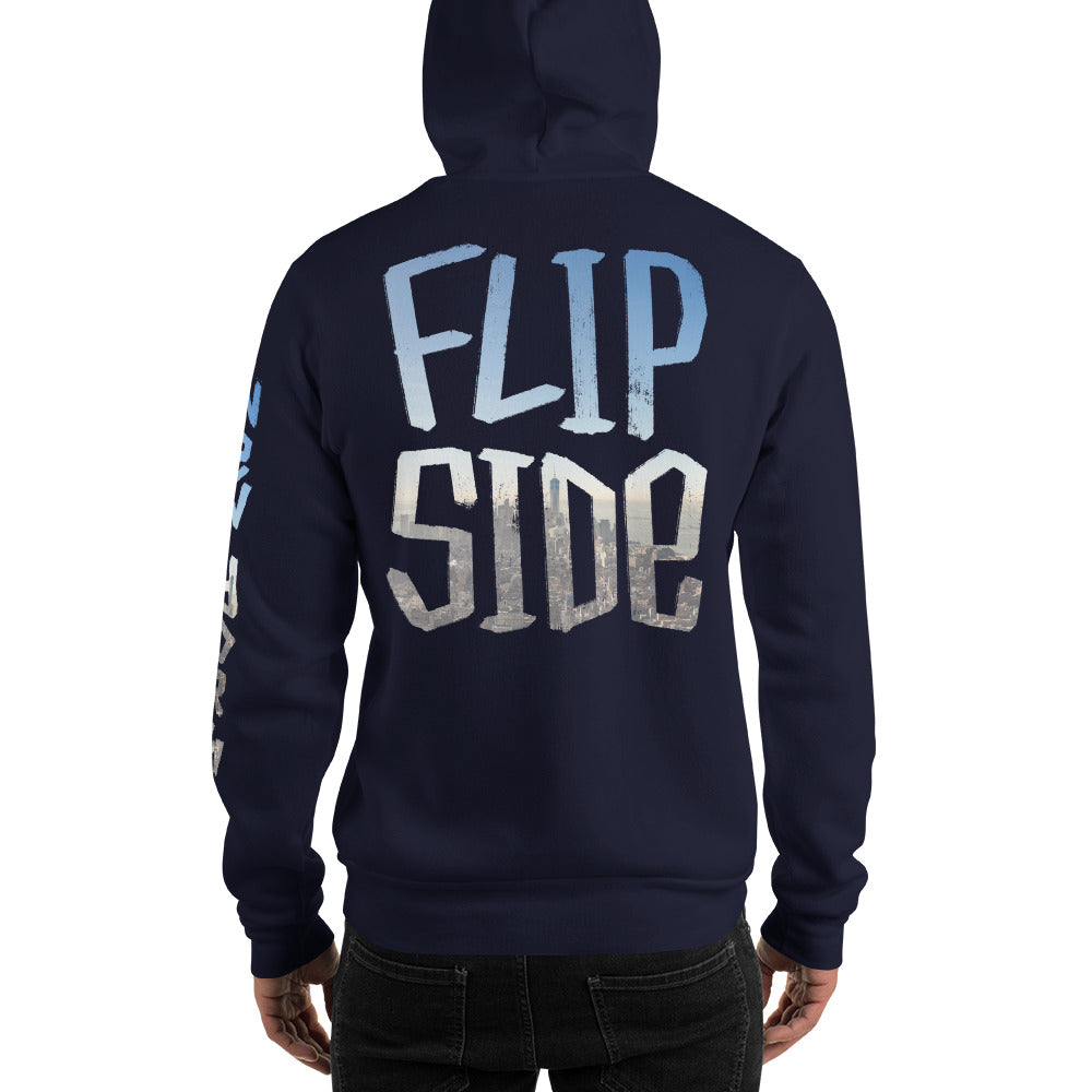 Infinity Cityscape 01 Hoodie Navy Back