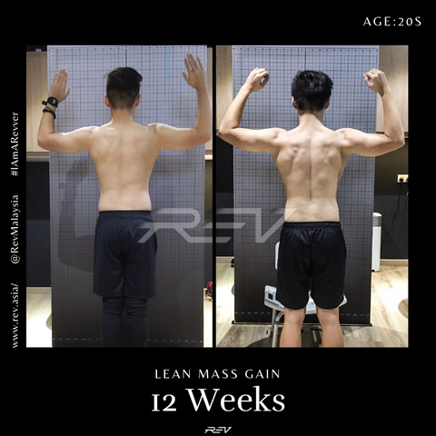 lean muscle gain transformation