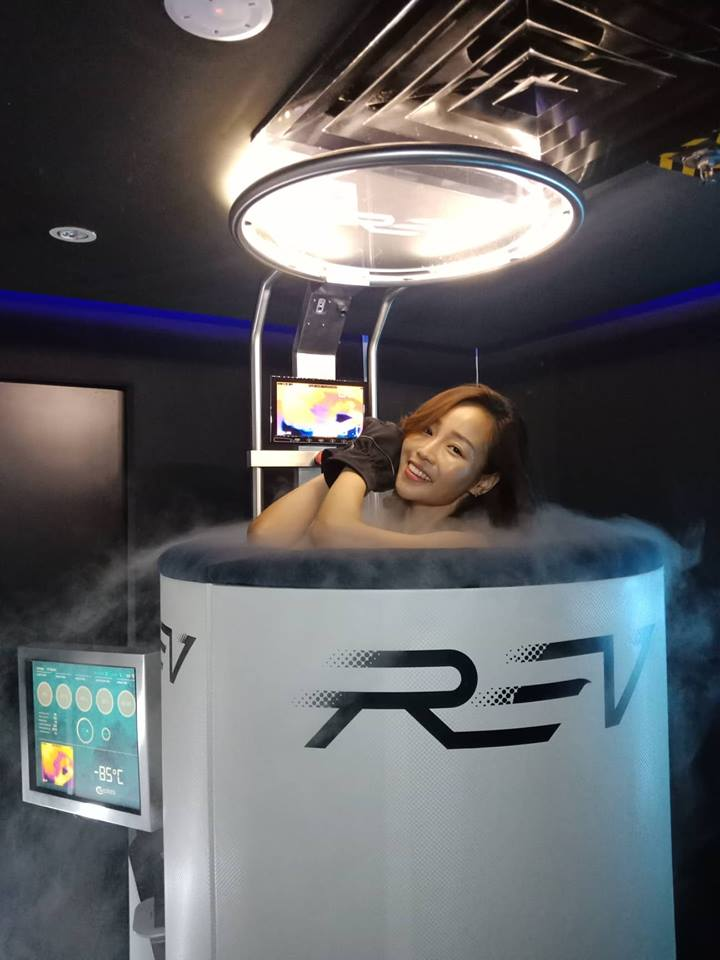 Cryotherapy in Rev Publika, Malaysia ! Rev is a fitness centre that offers Customise Personal Training, Whole Body Cryotherapy, 3D Biomechanic Postural Assessment, and Aerial Yoga!