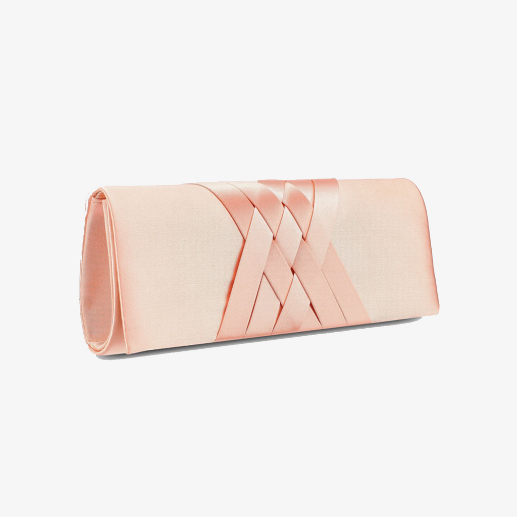 Braided Satin Dinner Clutch