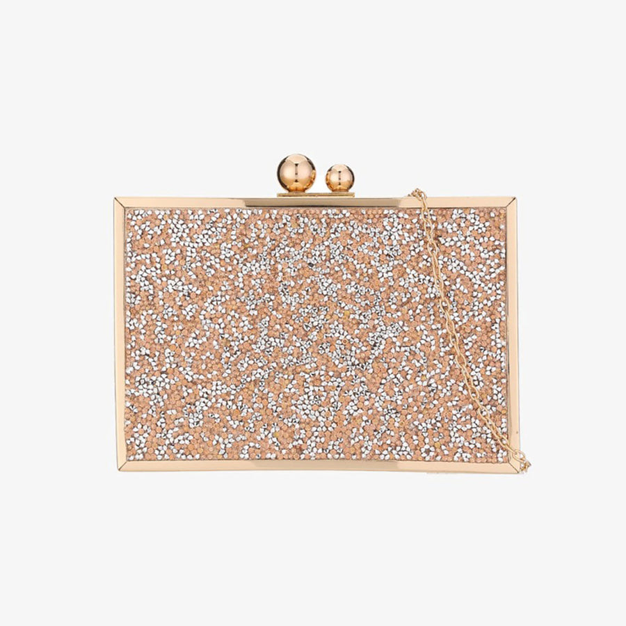 PINK DIAMANTE CLUTCH