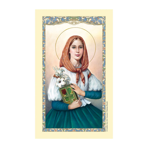 St. Dymphna Oxidized Medal with Holy Card set-Patron of Mental and Brain issues