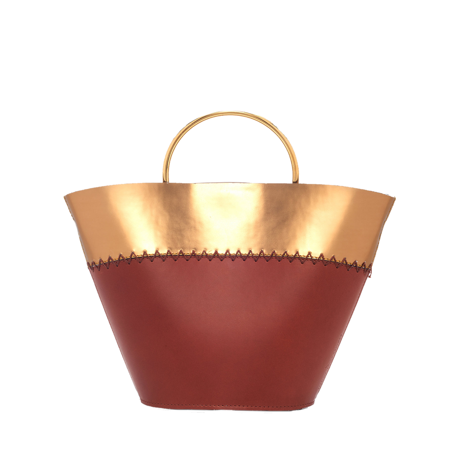 Amphora Two Tone Cuio/Gold