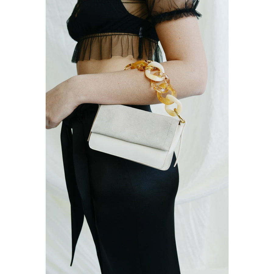 Sofia Micro Off-White Crossbody