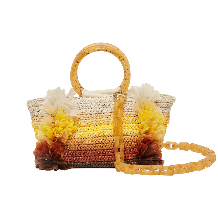 SS20 Corallina Raffia Bag Yellow Natural Carolina Santo Domingo