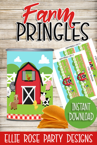 FARM PRINGLE LABEL STICKERS