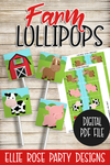 FARM ANIMAL FARMHOUSE BARNYARD LOLLIPOP SUCKER COVER