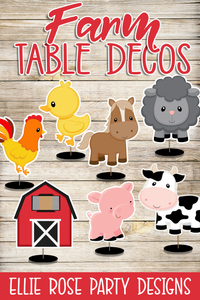 Farm Animal Table Decorations / Centerpieces