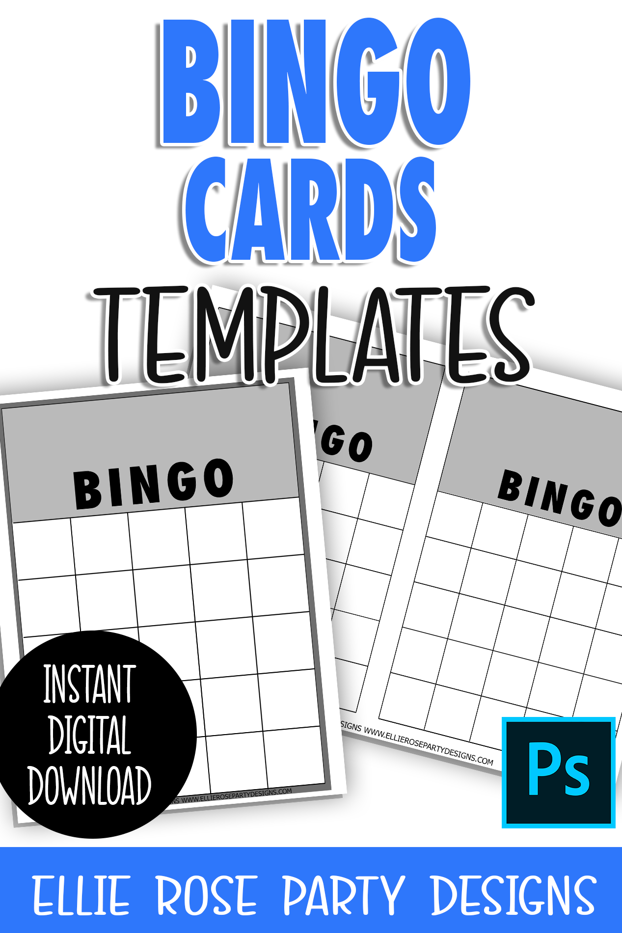 Bingo Cards Template ** Photoshop Users **