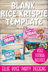 Blank Rice Krispie Treat Template