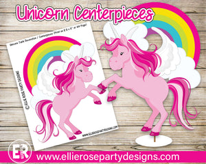 Unicorn Rainbow Table Decorations / Centerpieces