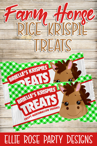 Farm Barnyard Horse Rice Krispie Treats