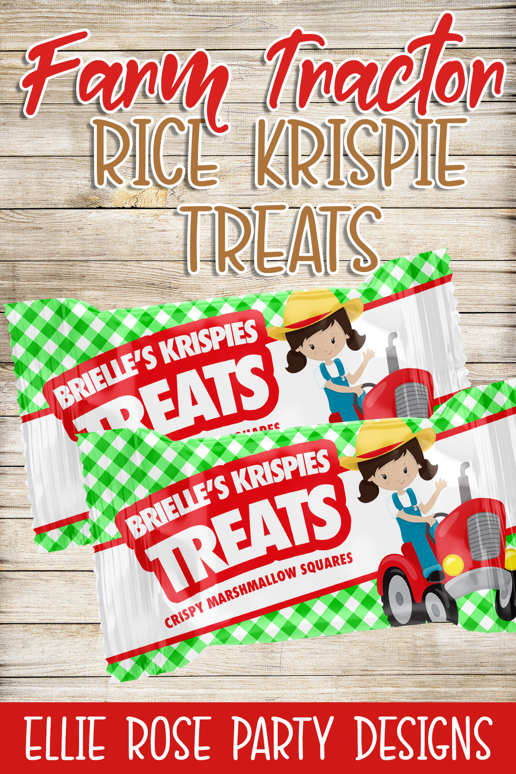 farm barnyard rice krispie treats