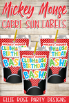 Mickey Mouse Juice Pouch Capri Sun Labels [INSTANT DOWNLOAD]