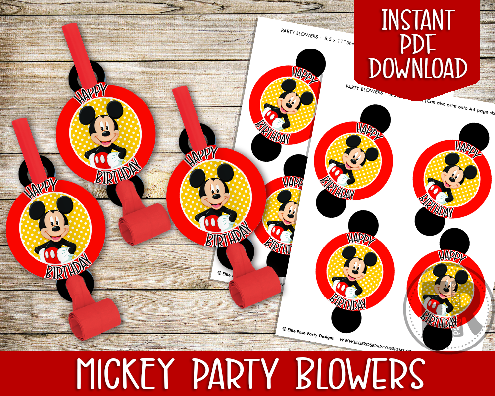Mickey Mouse Clubhouse Party Printable Pack [INSTANT DOWNLOAD]