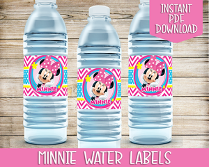 Minnie Mouse Bowtique Party Printable Decoration Pack [INSTANT DOWNLOAD]