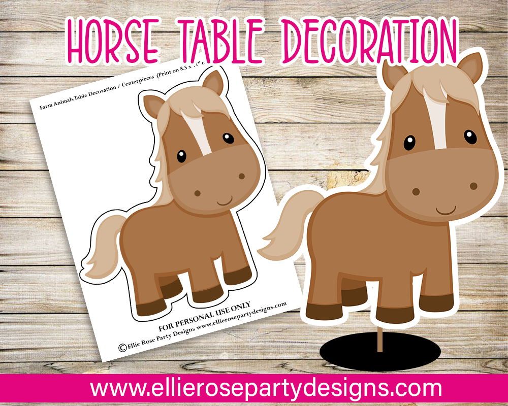 Pink Barn & Farm Animal Table Decorations / Centerpieces