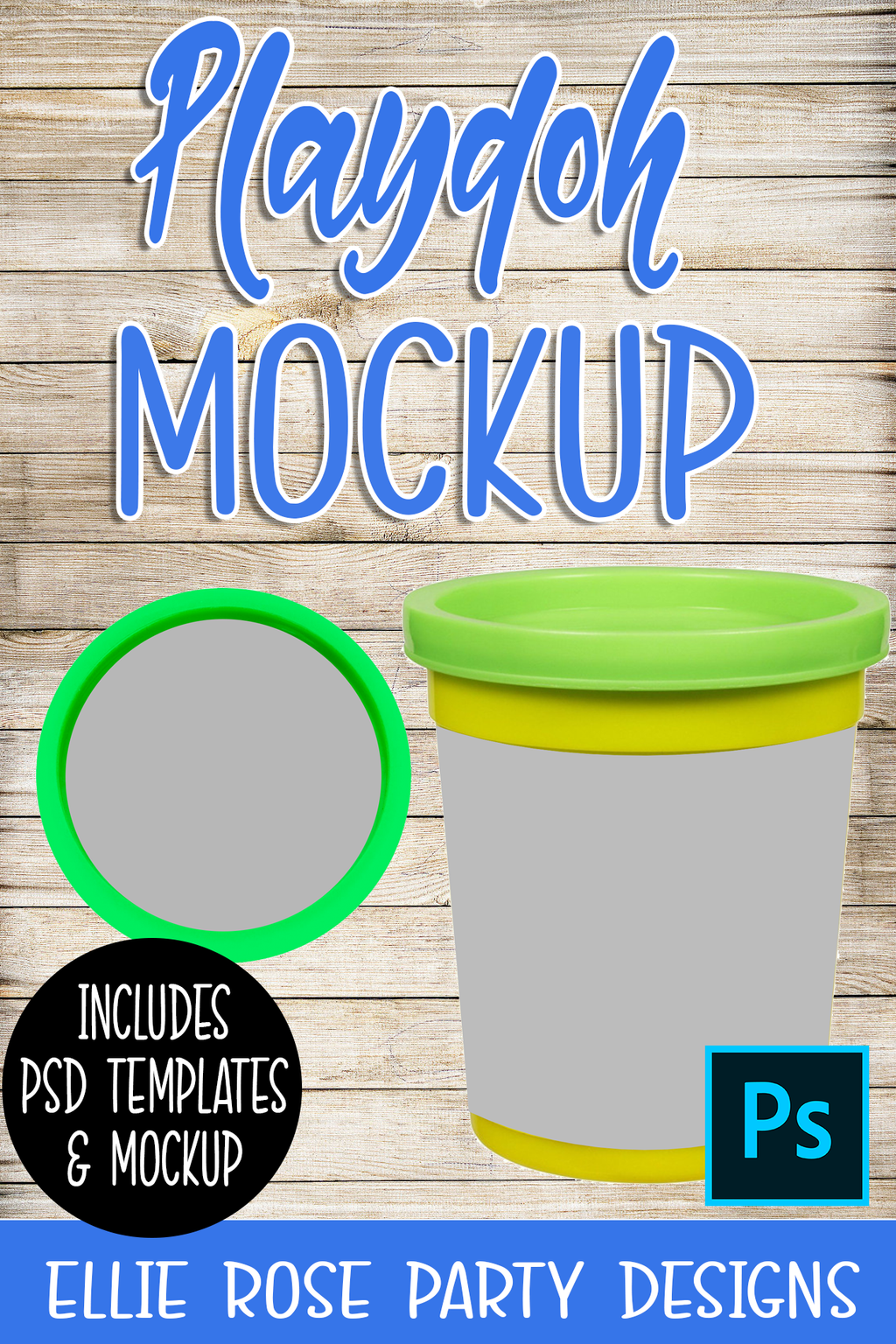 Playdough Playdoh Mockup and Template ** Photoshop Users **