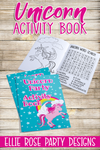 UNICORN ACTIVITY COLORING BOOK