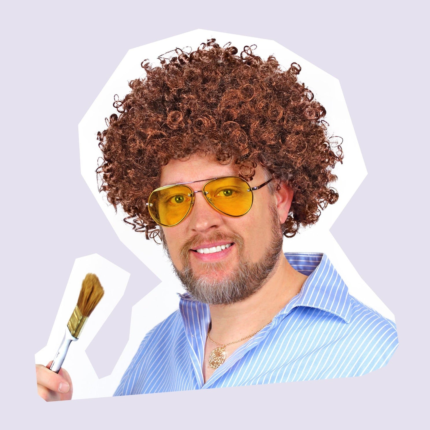 Curated by Social Studies Flair Bob Ross Costume Kit