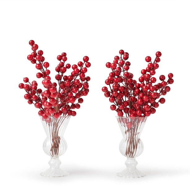 Faux Red Berry Stems