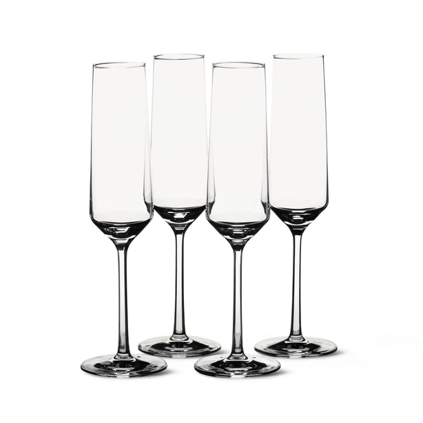 Social Studies Extras Champagne Glasses, Set of 4