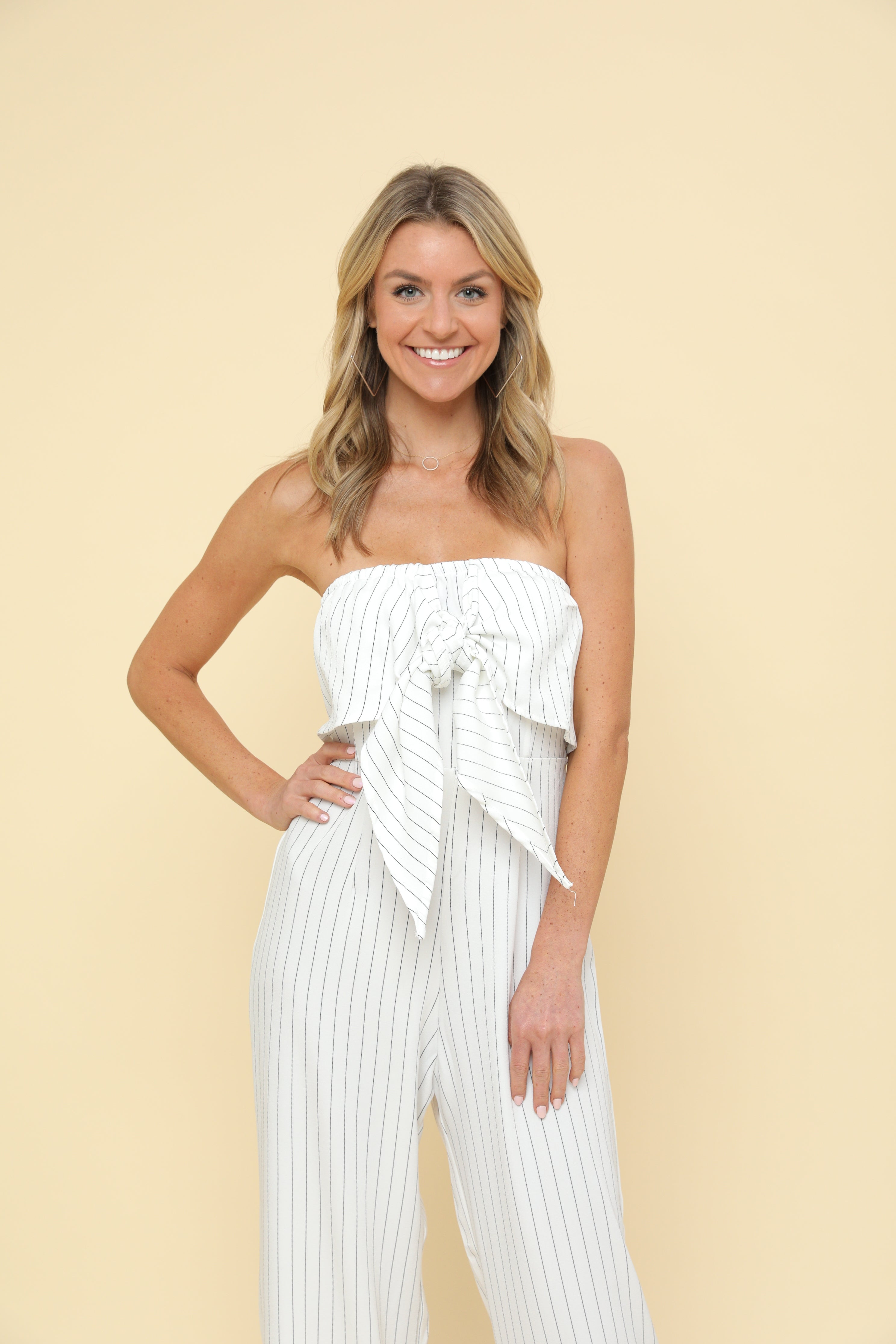 Tube Top Long Wide Leg Jumpsuit