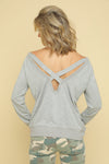 Strappy Back Pullover Sweater