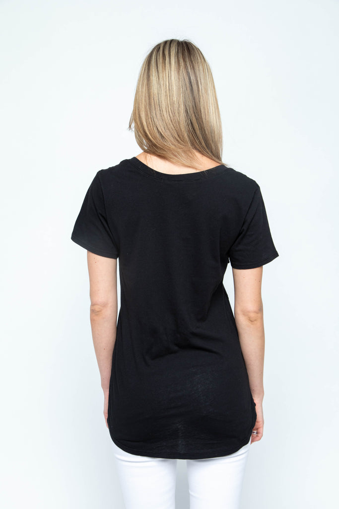 Bobi Light Weight V Neck Tee