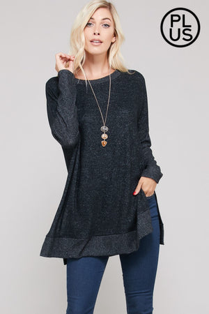 Cashmere Loose Fit Sweater - Plus Size
