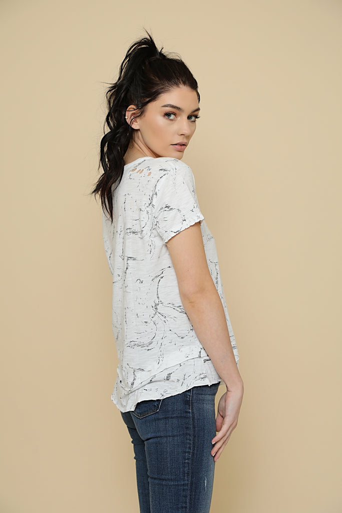 White Marble T-Shirt