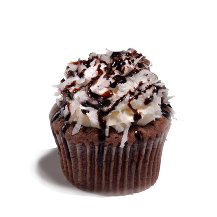 Chocolate Coconut Poundcup Cupcake